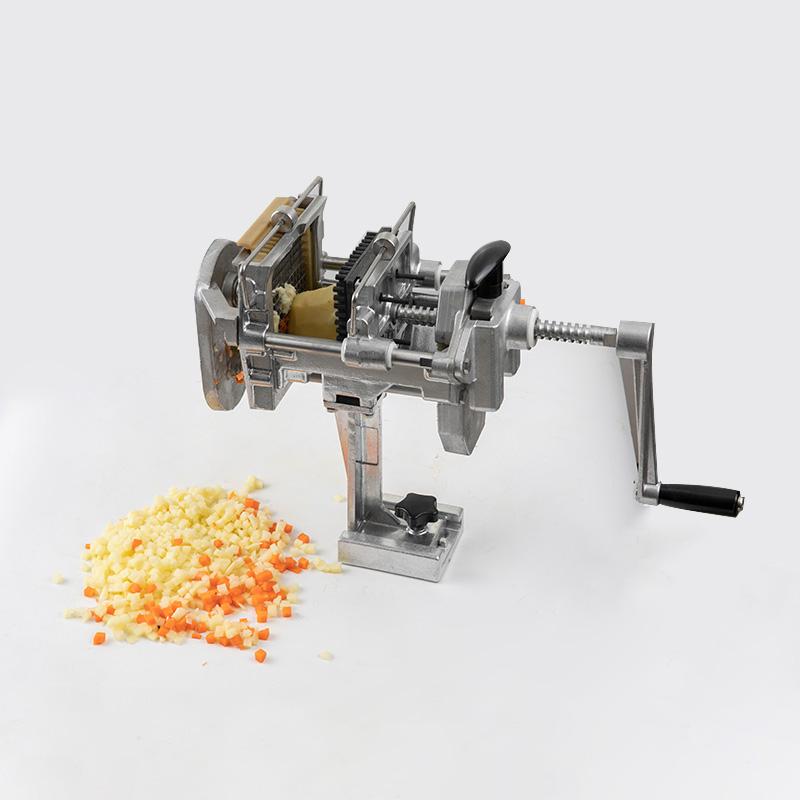 dicer cutting potato